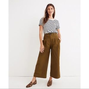 Madewell Pleated Wide-Leg Pants